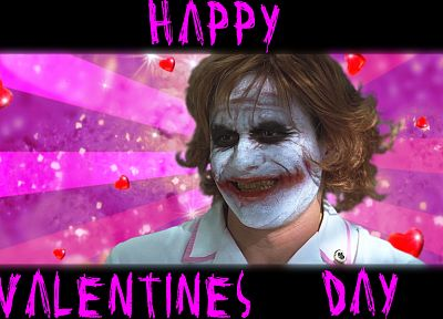 The Joker, Valentines Day, The Dark Knight - desktop wallpaper