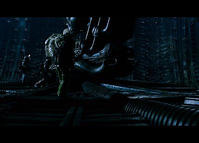 outer space, movies, spaceships, vehicles, Aliens movie, Alien, Space Jockey - random desktop wallpaper