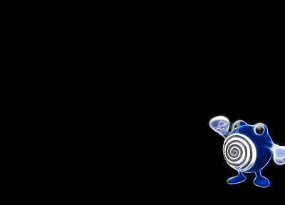 Pokemon, black background, Poliwhirl - desktop wallpaper
