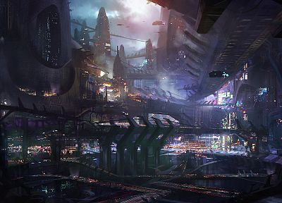 cityscapes, futuristic, fantasy art, science fiction, artwork, Prey 2 - related desktop wallpaper