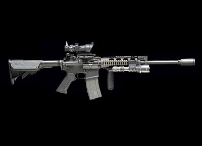 rifles, guns, weapons, AR-15, ACOG - random desktop wallpaper