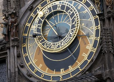 city hall, Praha, astronomical clock - desktop wallpaper
