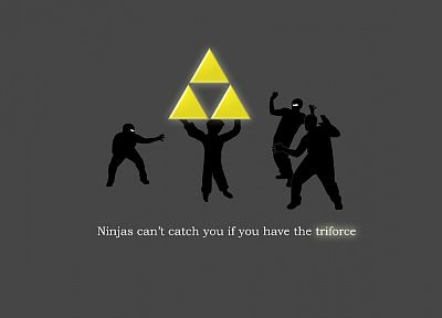 ninjas cant catch you if, triforce, The Legend of Zelda - desktop wallpaper