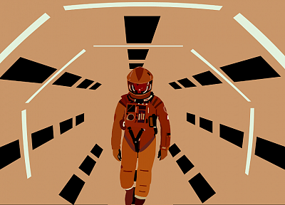 space suits, 2001: A Space Odyssey, vector art - desktop wallpaper