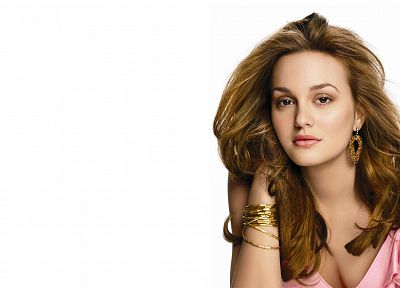 women, Leighton Meester, simple background - related desktop wallpaper