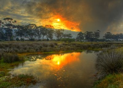 landscapes, HDR photography, swamp, skyscapes - random desktop wallpaper