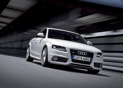 cars, Audi A4, white cars, German cars - random desktop wallpaper