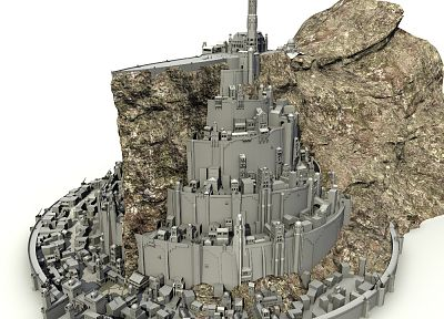 Minas Tirith, The Lord of the Rings, Gondor, Rendering - random desktop wallpaper
