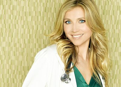blondes, women, actress, Scrubs, Sarah Chalke, Elliot Reed, stethoscopes - related desktop wallpaper