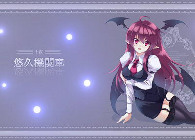 women, Touhou, devil, Koakuma - random desktop wallpaper