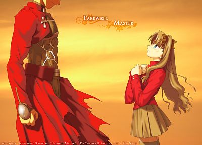 Fate/Stay Night, Tohsaka Rin, Archer (Fate/Stay Night), Fate series - desktop wallpaper