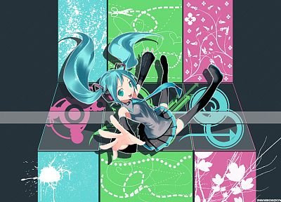 Vocaloid, Hatsune Miku, tie, twintails - random desktop wallpaper