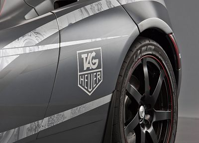 cars, grayscale, wheels, TAG Heuer, gray background, gray cars - desktop wallpaper