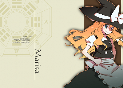blondes, witch, Touhou, Kirisame Marisa - desktop wallpaper