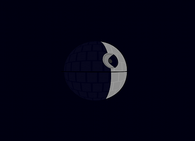 Star Wars, minimalistic, Death Star - desktop wallpaper