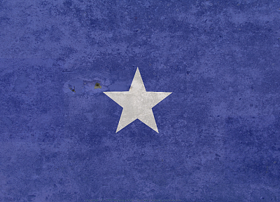 blue, minimalistic, stars, flags, Somalia - desktop wallpaper