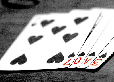 cards, love, peace, spade, monochrome - random desktop wallpaper