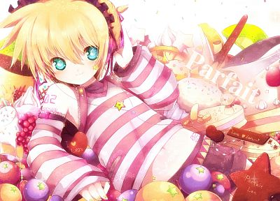 Vocaloid, Kagamine Len, detached sleeves, bare shoulders - random desktop wallpaper