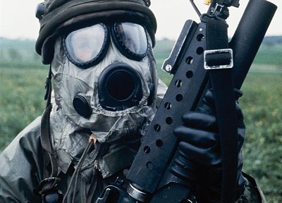 soldiers, gas masks, hazard, millitary - random desktop wallpaper