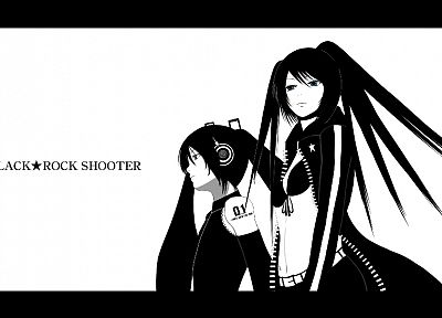 Vocaloid, Black Rock Shooter, Hatsune Miku, crossovers, detached sleeves - related desktop wallpaper