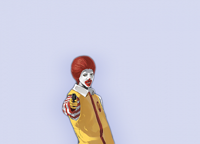 Ronald McDonald, simple background - desktop wallpaper