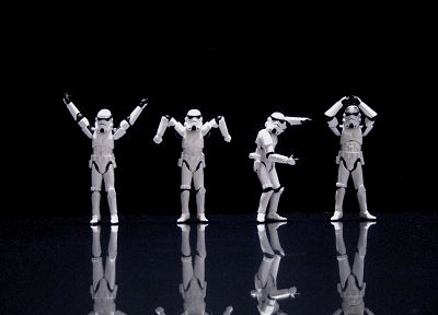 Star Wars, stormtroopers, funny, ymca - desktop wallpaper
