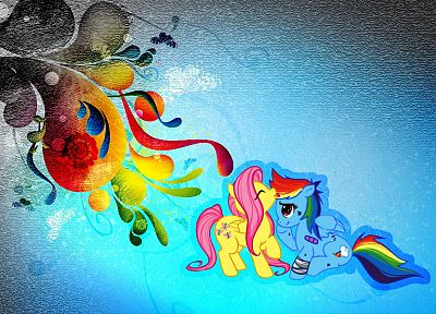 My Little Pony, Fluttershy, Rainbow Dash - desktop wallpaper