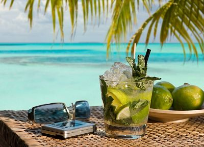 vacation, mojito, sea - desktop wallpaper