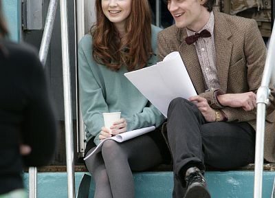 Matt Smith, Karen Gillan, Doctor Who - related desktop wallpaper