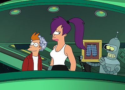 Futurama, Bender, Turanga Leela, Philip J. Fry - desktop wallpaper