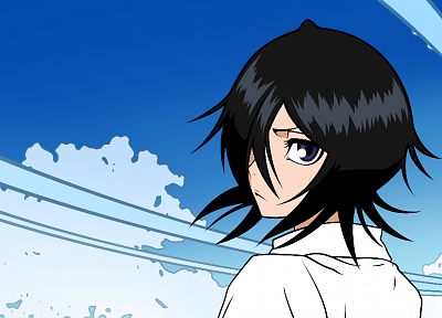 Bleach, vectors, Kuchiki Rukia - random desktop wallpaper