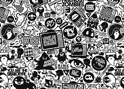 black and white, retro, typography, artwork, JThree Concepts, Jared Nickerson - related desktop wallpaper