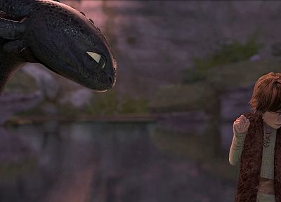 toothless, How to Train Your Dragon, Hiccup - related desktop wallpaper