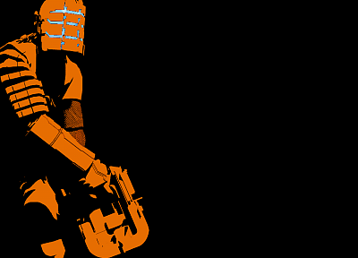 minimalistic, Dead Space, Isaac Clarke, black background - related desktop wallpaper