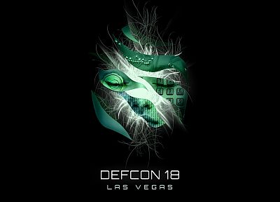 hacking, black background, Defcon (Hacking Conference) - desktop wallpaper
