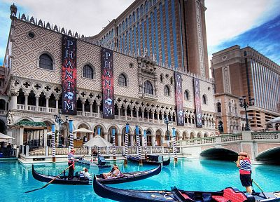 water, architecture, Venetian - desktop wallpaper
