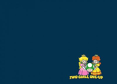 Mario, Princess Peach, One-Up - desktop wallpaper