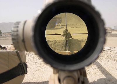 scope, soldiers, military, sniper rifles, recoil - related desktop wallpaper