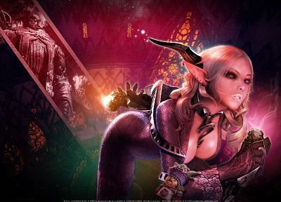 women, video games, horns, Tera, MMO, castanic, Castanic girl - random desktop wallpaper