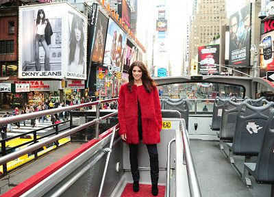 jeans, models, Ashley Greene, Times Square - desktop wallpaper