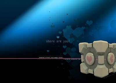 Valve Corporation, Portal, Companion Cube, Aperture Laboratories, Portal 2 - related desktop wallpaper