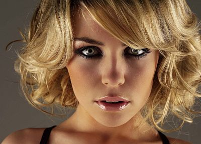 blondes, women, models, Abigail Clancy, faces - random desktop wallpaper