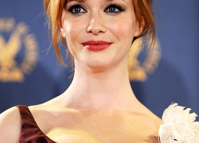 redheads, cleavage, Christina Hendricks - related desktop wallpaper
