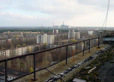 ruins, buildings, Pripyat, Chernobyl - random desktop wallpaper