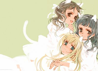lolicon, simple background, Oyari Ashito - related desktop wallpaper