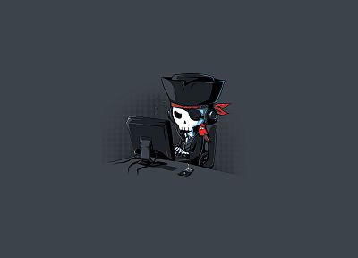 minimalistic, music, iPod, pirates, funny, skeletons - desktop wallpaper