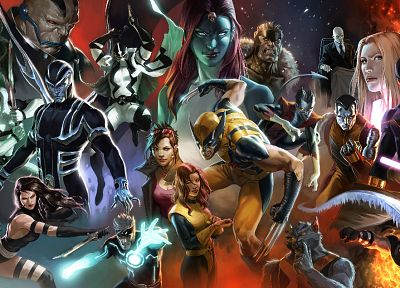 X-Men, Wolverine, Deadpool Wade Wilson, Psylocke, Jean Grey, Mystique, Marvel Comics, Emma Frost, Cyclops, Nightcrawler, Charles Xavier, Black Box, Iceman, Fantomex - related desktop wallpaper