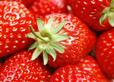 close-up, fruits, strawberries - desktop wallpaper