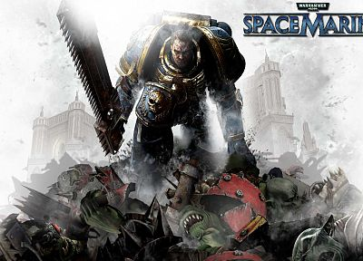 Warhammer, spacemarine - random desktop wallpaper