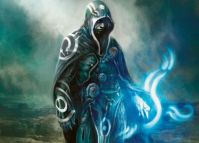 wizard, Magic: The Gathering, cloaks, artwork, Jace Beleren - random desktop wallpaper